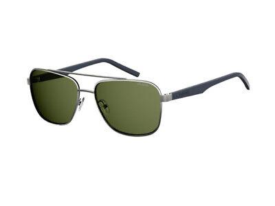 100% Vero Occhiali Da Sole Polaroid Polarizzati Pld 2044/s Grigio Verde Metallo 6lb/uc Buona Conservazione Del Calore