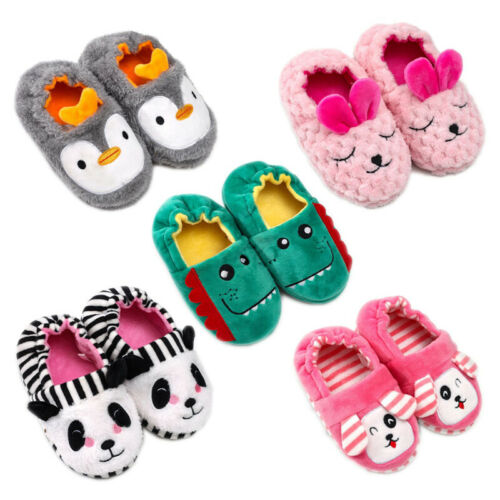 Kids Toddler House Home Slippers Plush Lined Kids Indoor Fuzzy Casual Warm Shoes