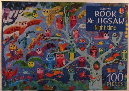 Usborne Night Time 100 piece jigsaw and book