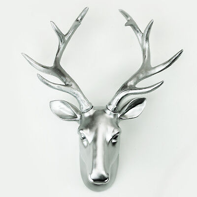 Champagne Gold Deer Faux Taxidermy Decoration Art Head Wall Hanger Interior UK