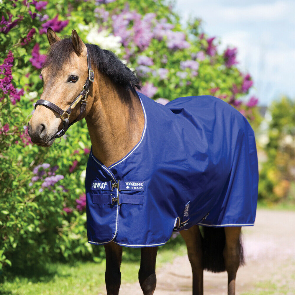 Horseware  Amigo Hero 900 Pony Turnout Medium 200g-Atlantic bluee Ivory  for your style of play at the cheapest prices