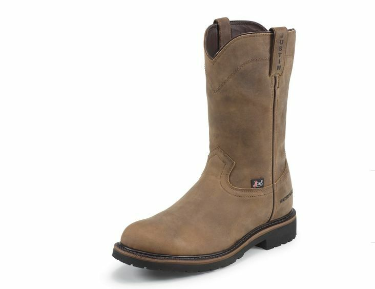 Justin Wyoming Waterproof Steel Toe Pull on Work Boot WK4961