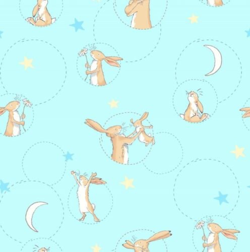 Guess How Much I Love You Moon Back Hare Nutbown 100/% cotton fabric HALF METRE