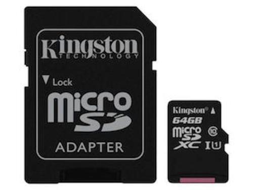64 GB Micro SDXC Speicherkarte Kingston Samsung Galaxy A3 A5 A7 A8 J1 J3 J5 J7