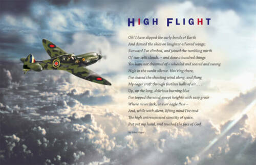 RARE HIGH FLIGHT POSTER AIRPLANES FLYING