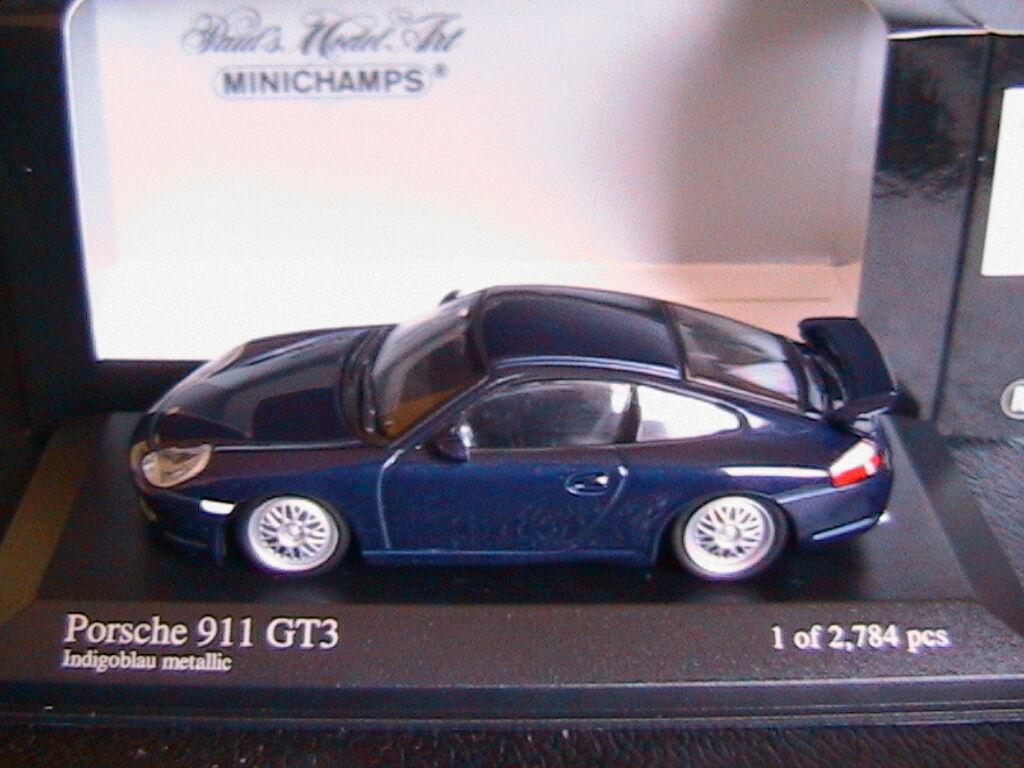 PORSCHE 911 GT3 1999 INDIGObleu METALLIC MINICHAMPS 430068009 1 43 bleu METAL