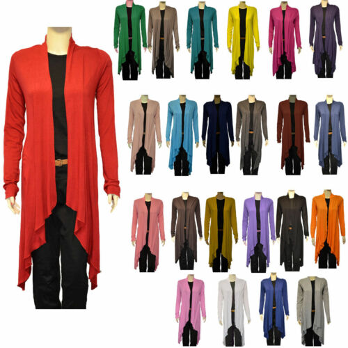 5320 JUSTYOUROUTFIT WOMENS LADIES VISCOSE ITALIAN MADE WATERFALL OPEN CARDIGAN