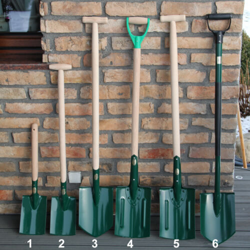 Spaten Spitzspaten Gärtnerspaten Gartenspaten D-Griff  117 cm mit Metallstiel
