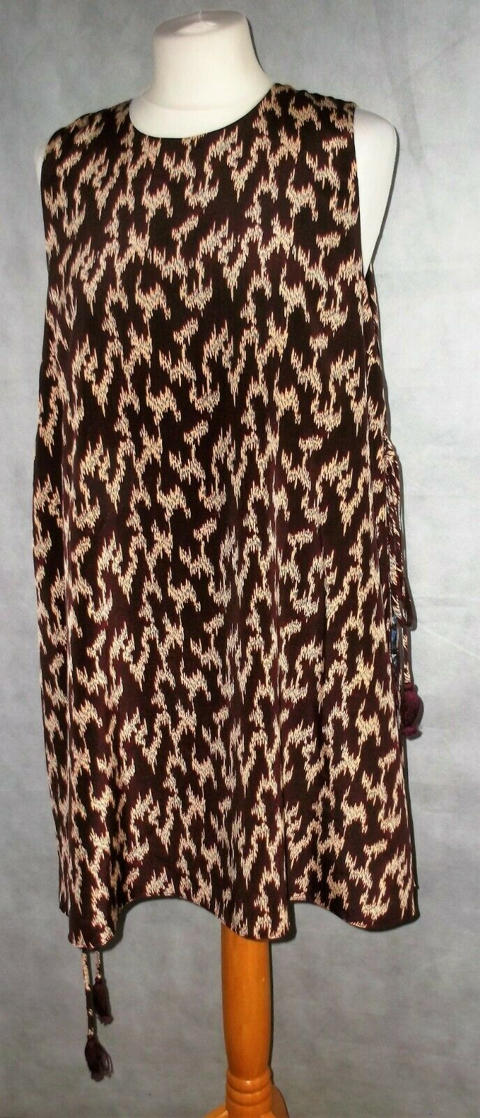ELIZABETH AND JAMES net a porter silk long double layered top size 12