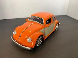1959-Volkswagen-Escarabajo-Hard-Top-Jada-99049DP1-1-24-Diecast-Car-2-Tonos-Naranja