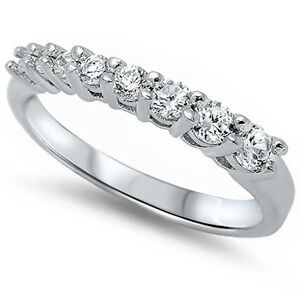 Cz Fashion Engagement .925 Sterling Silver Ring SIZES 5-10