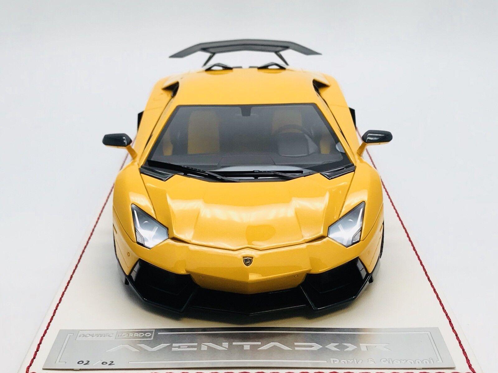 1 18 Davis Giovanni D&G Lamborghini Novitec Torado Yellow 1 of 2