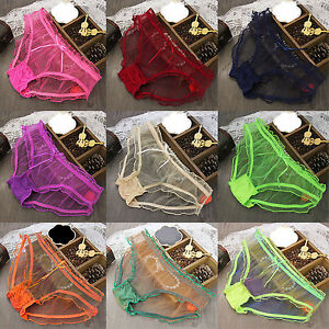 Womens-Ladies-Sexy-Mesh-Panties-Briefs-Knickers-Lingerie-Underwear-Shorts-Pants