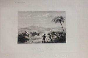 EGYPT-ABU-MENA-COMBAT-ORIGINAL-ENGRAVING-REBEL-1836
