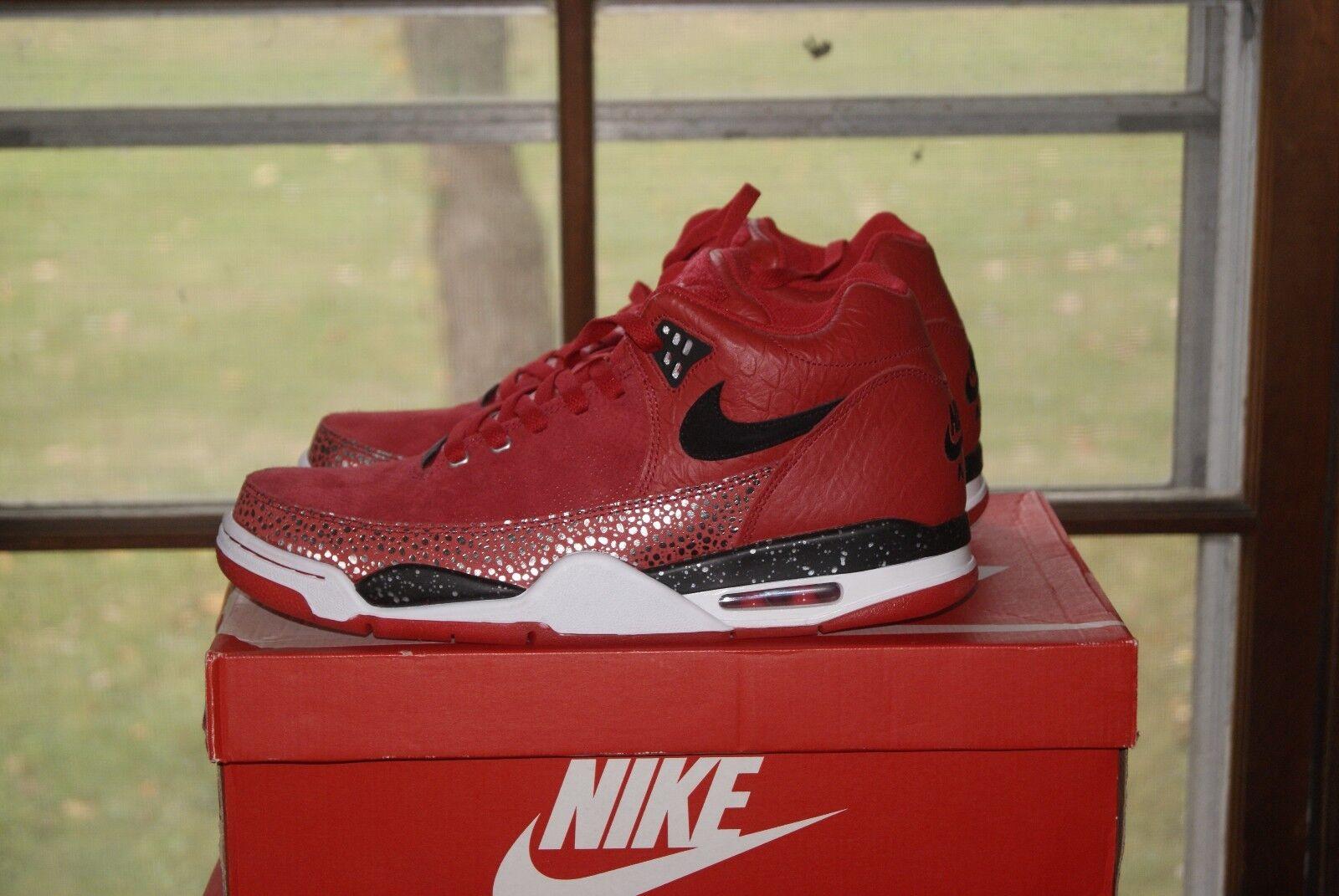 Mens Nike Flight Squad QS 11 or 11.5 Red Black Silver