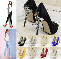 Dress Shoes Women Party Pumps Pointed Toe Thick High Heels Elegant Heels Shoes