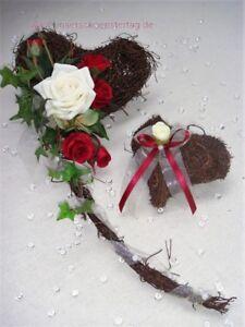 2 Tlg Tischdekoration Rot Zur Hochzeit Verlobung Kommunion