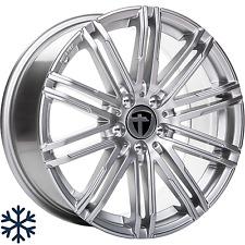 """4x Tomason TN18 8x18"""" 5x112 ET48 Bright silver Winterfest Audi VW Seat Skoda"""