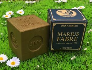Savon de Marseille 400gr pure huile d'olive Marius Fabre