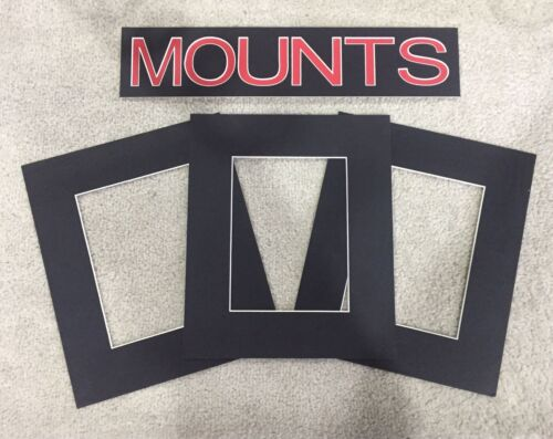 Pack of 10 Photo Black Various Sizes Frame Mounts Picture Mount