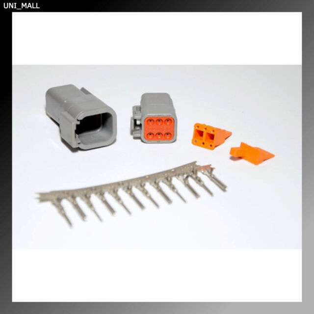 Deutsch DTM 8-pin Connector Kit 20AWG Stamped Contacts