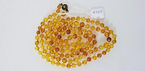 Bernstein Kenntnisreich 103cm Antike Natur Bernsteinkette Halskette Amber D'ambre Ambar Ambra 琥珀 琥珀项链 琥珀 Uhren & Schmuck