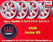 4 Cerchi SAAB 99 Minilite 5.5x15 ET20 4x114.3 Wheels Felgen Llantas Jantes TUV
