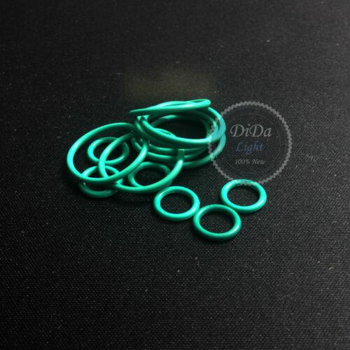 Line diameter:4.0mm 6pcs Green FKM Rubber Sealing ring O-Ring