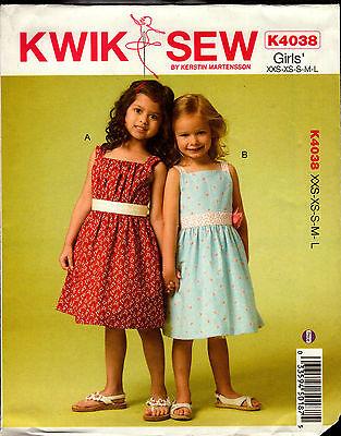 67b3085a1c63 Kwik Sew Sewing Pattern K4038 4038 Girls Dresses