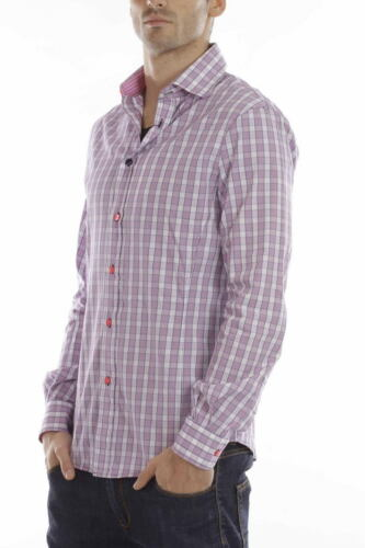 Jeans D5 R6c38 Shirt Armani Camicia Cotone Rosa Aj Uomo U5wanCqx6
