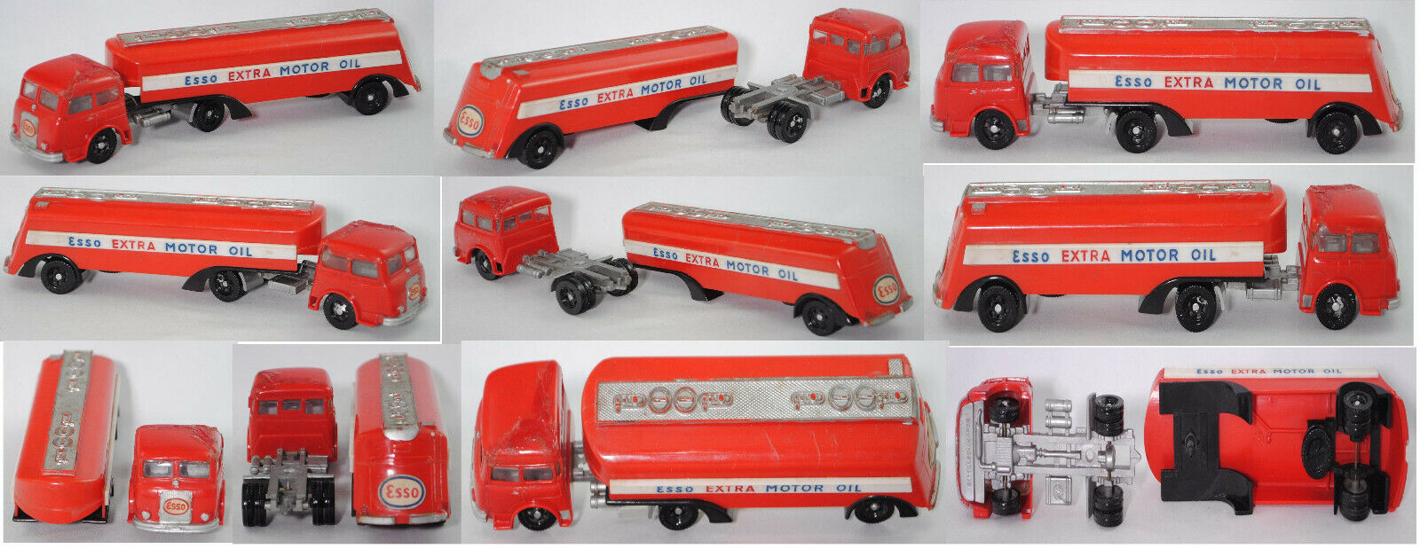 Siku Plastik V47 Esso Tankwagen (Henschel + STRÜVER), rot