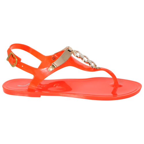 LADIES WOMENS RETRO FLAT JELLY BEACH SANDALS SUMMER GIRLS FLIP FLOPS SHOES SIZE