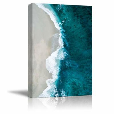 Canvas Wall Art Pink Sand Beach Wave Ocean Painting wall26 12x18 inches