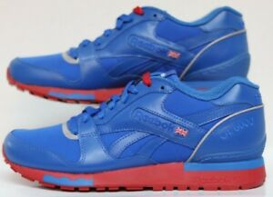 16efb467c4db2 Reebok GL 6000 Seasonal Vital Blue Red Silver White Men Size s