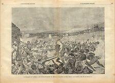 Stampa antica BATTAGLIA DI DOGALI Eritrea Italiana 1887 Old antique print