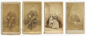 CDV-PHOTOGRAPHS-Carte-De-Visite-PORTRAITS-3-Men-Lady-amp-Children-c-1860-039-s