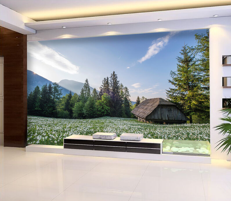 3D forest Flower field 8 Wall Paper wall Print Decal Wall Deco Indoor wall Mural