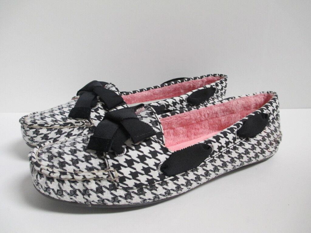 Sperry Top Sider Sider Sider bote Mocasín Zapatos Náuticos Zapatillas Lentejuelas Negro blancoo Nuevo en Caja 8.5 605cb6