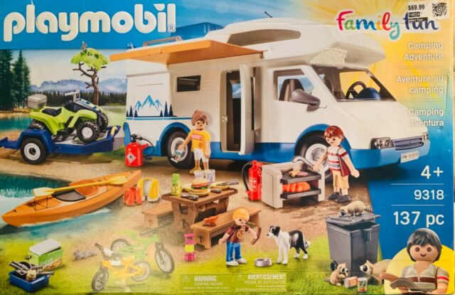 Playmobil Family Fun #9318 Camping Adventure - New Factory Sealed ~Great Gift~