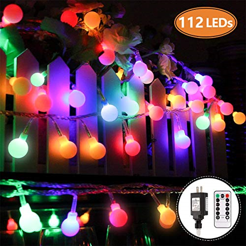 Mibote Globe String Lights 55ft 112 Leds Colored Fairy Waterproof Ul Listed For For Sale Online Ebay
