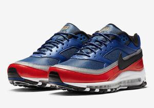 7af595faf0 Nike Air Max 97/BW Size 10 USA Olympics Deep Royal Blue Black Red ...
