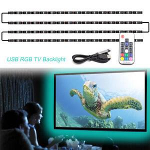 Pre-linked-USB-RGB-Mood-Lights-Multi-Color-LED-Strip-Light-TV-Back-lighting-Kit