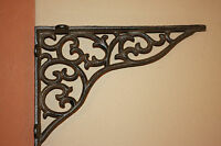 (2)pcs, Large Shelf Brackets, 11 Cast Iron Shelf Brackets, Victorian,b-18