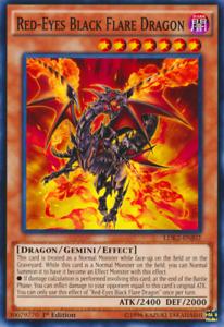 Details about Red-Eyes Black Flare Dragon 1st X 1 YUGIOH LDK2-ENJ02 Gemini  monster