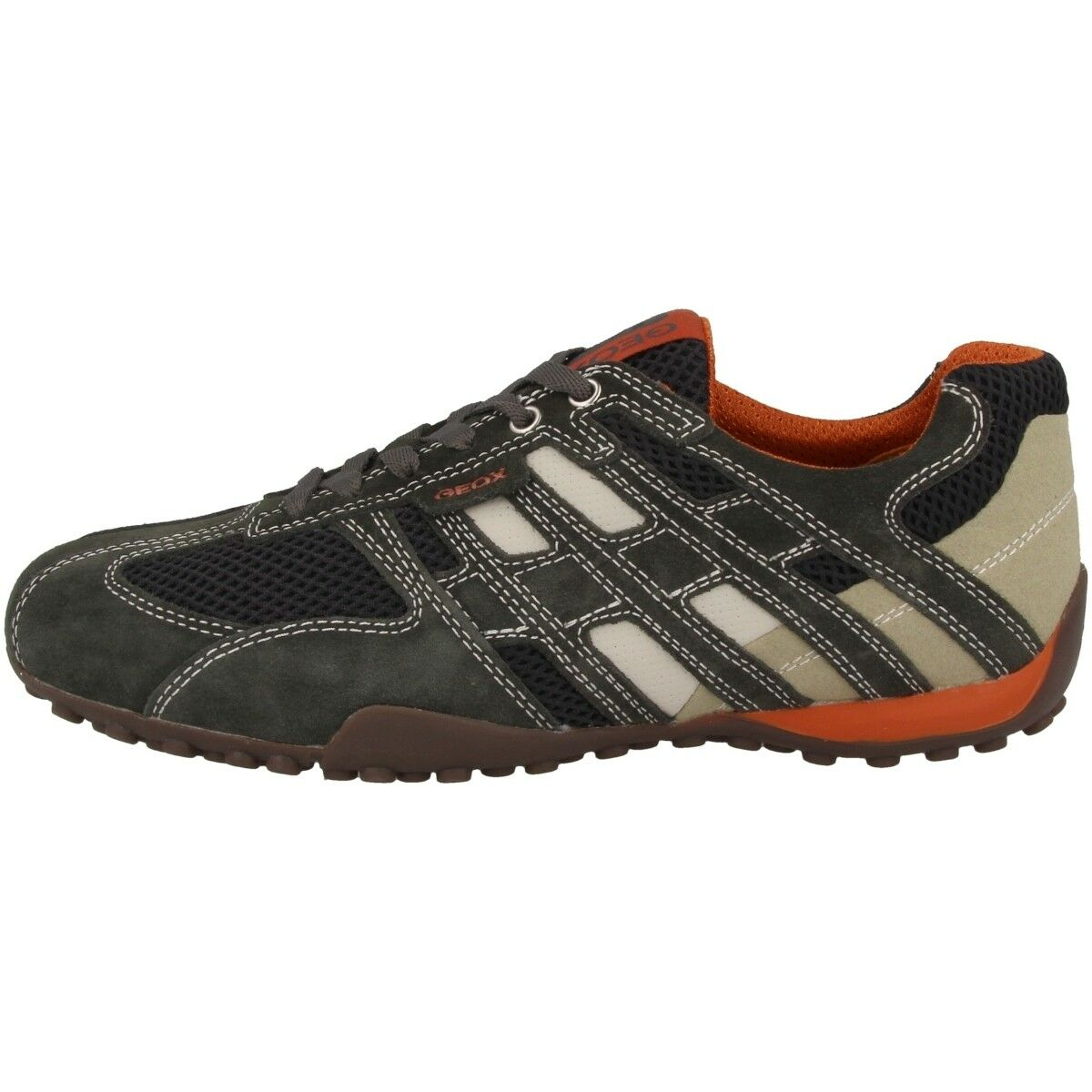 GEOX U Snake K Schuhe Herren Turnschuhe Leder Halbschuhe grau Box U4207K02214C1300   | Modern Und Elegant