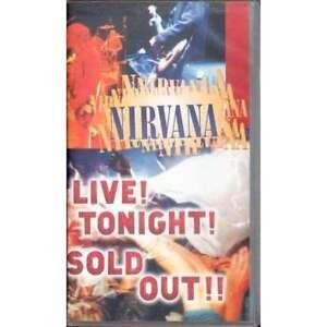 NIRVANA-034-LIVE-TONIGHT-SOLD-OUT-034-VHS-USED-GRUNGE-PUNK-KURT-COBAIN-SEATTLE