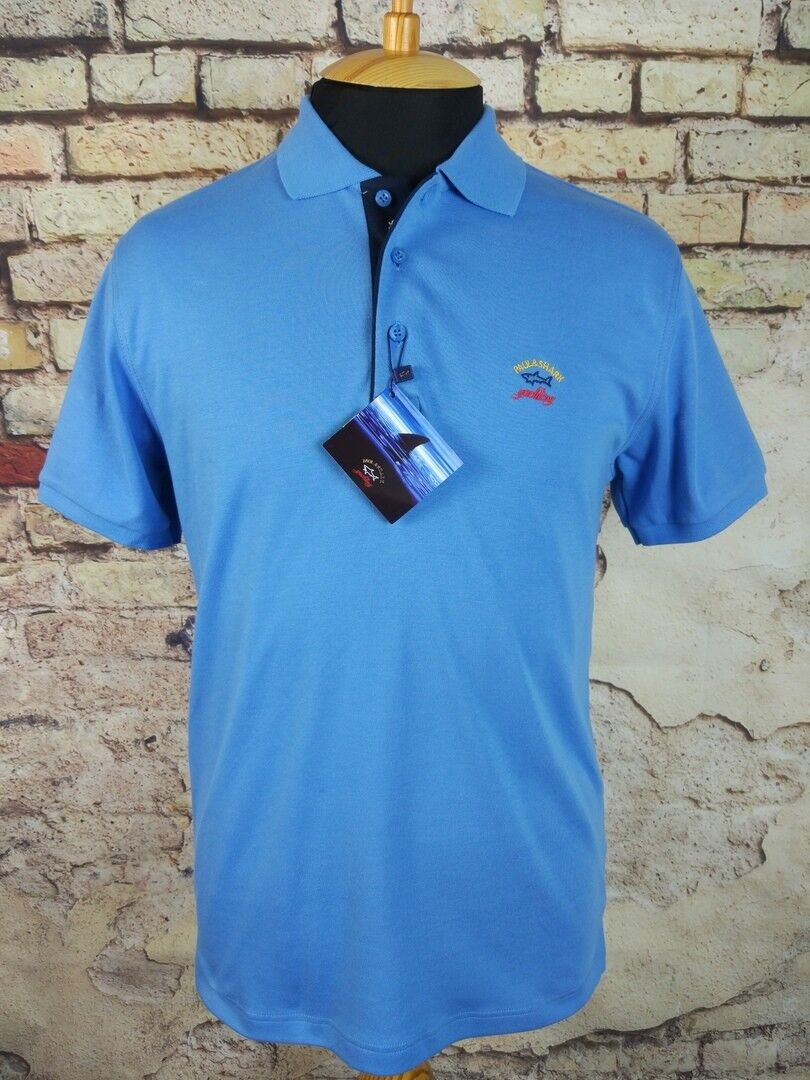 1960cf22f3 Details about New PAUL   SHARK Yachting Polo Shirts Size M-3XL Blue