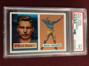 Details About Bart Starr 2012 Topps 1957 Reprint Rookie Card Psa 9 Mint Green Bay Packers
