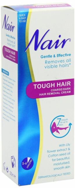 Hair Removal Cream Nair Tough Hair Coarse 200 Ml Next Day Womens