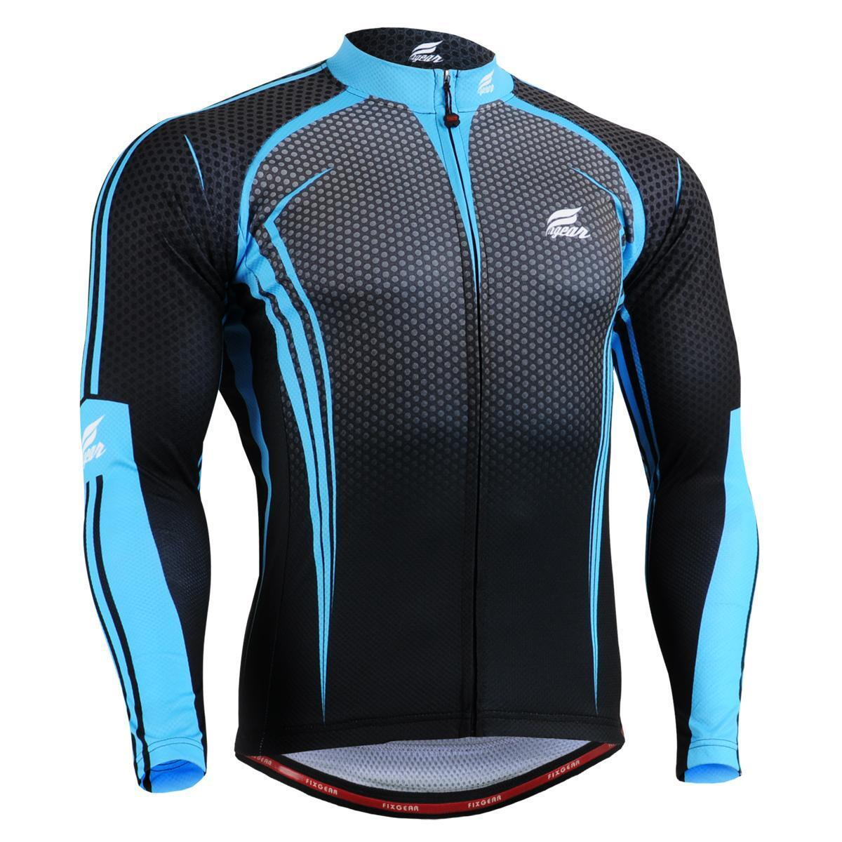 FIXGEAR CS-5601 Men's Long Sleeve Cycling Jersey Bicycle Apparel Roadbike MTB
